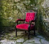 Gabriella - red velvet arm chair