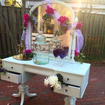 Tara Mint Green Vanity w mirror