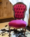 Giulia - 2 raspberry red tufted armless chair  qty: 2