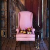 Pia - pink high back chair