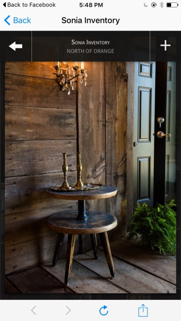 Samantha tiered distressed side table