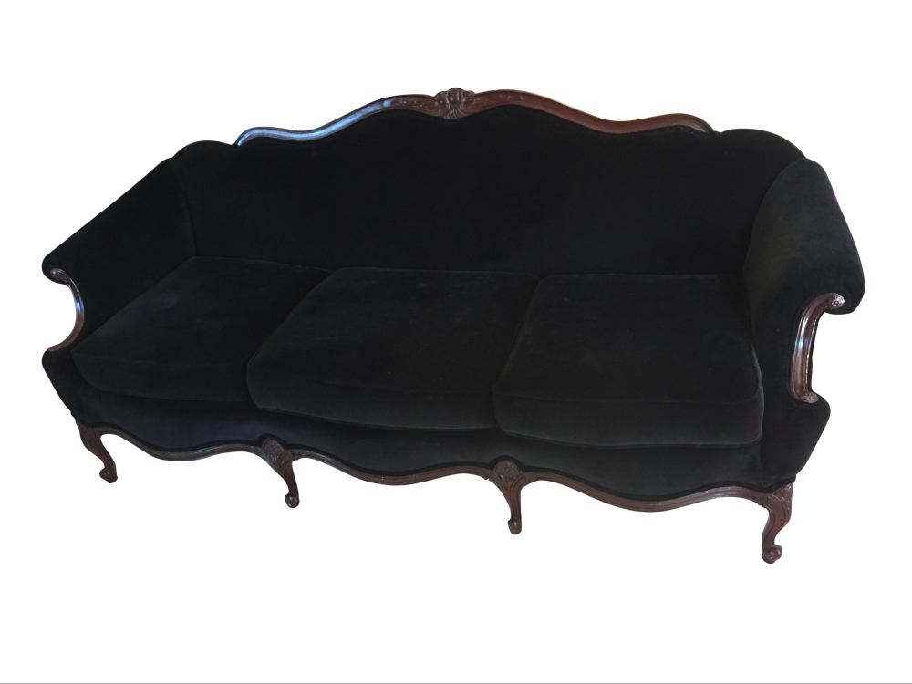 black vintage sofa